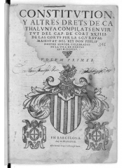 Constitutions y altres drets de Cathalunya, 1588