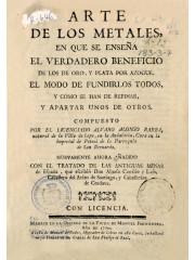 Arte de los metales, 1770