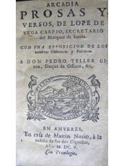 Arcadia : prosas y versos, 1605