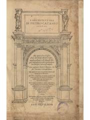 L'architettura di Pietro Cataneo senese, 1567