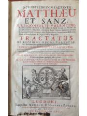 Tractatus de regimine Regni Valentiae, 1704