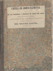 Cartilla de adorno elemental, 1850