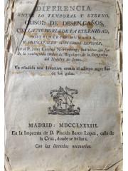 Diferencia entre lo temporal y eterno, crisol de desengaños …, 1783