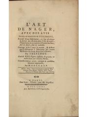 L'art de nager, 1781