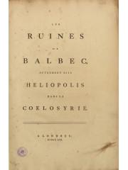 Les ruines de Balbec, 1757