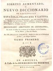 Sobrino aumentado o Nuevo diccionario…, 1769