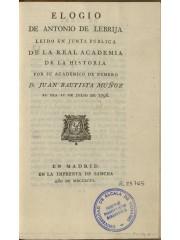 Elogio de Antonio de Lebrija, 1796