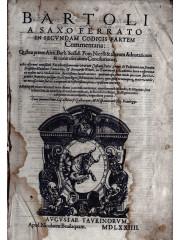 Bartoli a Saxoferrato In secundam Codicis partem…, 1574