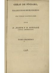 Obras de Píndaro, 1798