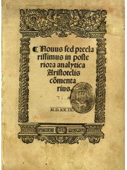 Posteriora analytica Aristotelis, 1529