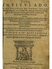 Libro intitulado vida politica de todos los estados de mugeres, 1599