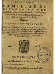 Epistolas familiares, 1618
