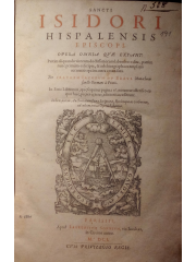 Sancti Isidori Hispalensis Episcopi Opera omnia, 1601