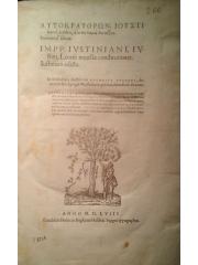 Autokratorōn … = … nouellae constitutiones …, 1558