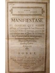 Manifiestase el derecho que assiste al prior … de San Marcos de Leon …, 1567