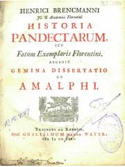 Historia pandectarum, 1722