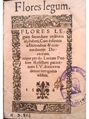 Flores legum secundum ordine alphabeti, 1546