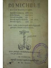 De re di Francia, Libri III …, 1543