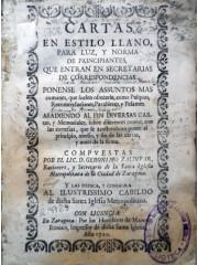 Cartas en estilo llano para luz y norma de principiantes, 1722