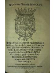 Cortes de Madrid. Año de LXIIj, 1563