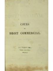 Cours de droit commercial, 1833