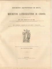 Monumentos latino-bizantinos de Córdoba, 1879