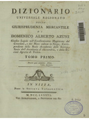 Dizionario universale ragionato della giurisprudenza mercantile, 1786