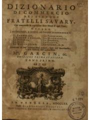 Dizionario di commercio, 1770