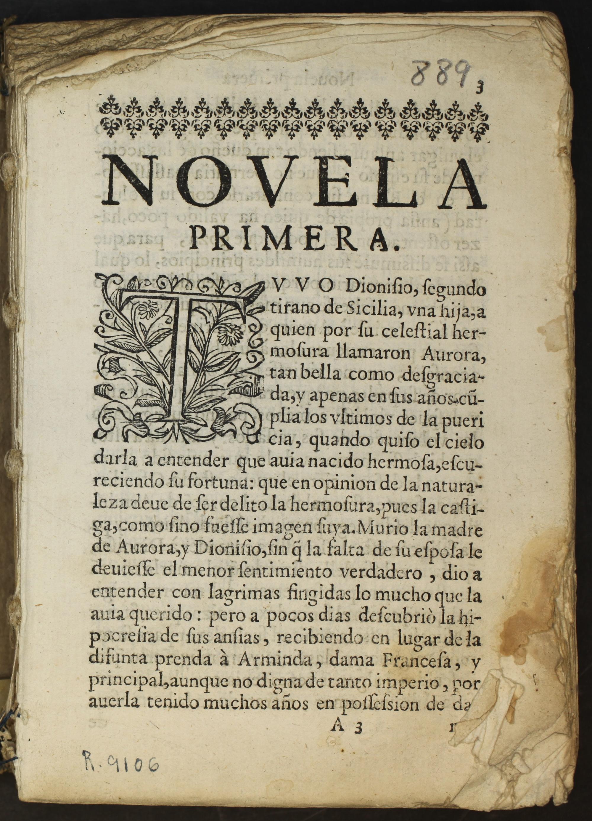 Svcesso y Prodigios de Amor : en ocho novelas exemplares, 1624