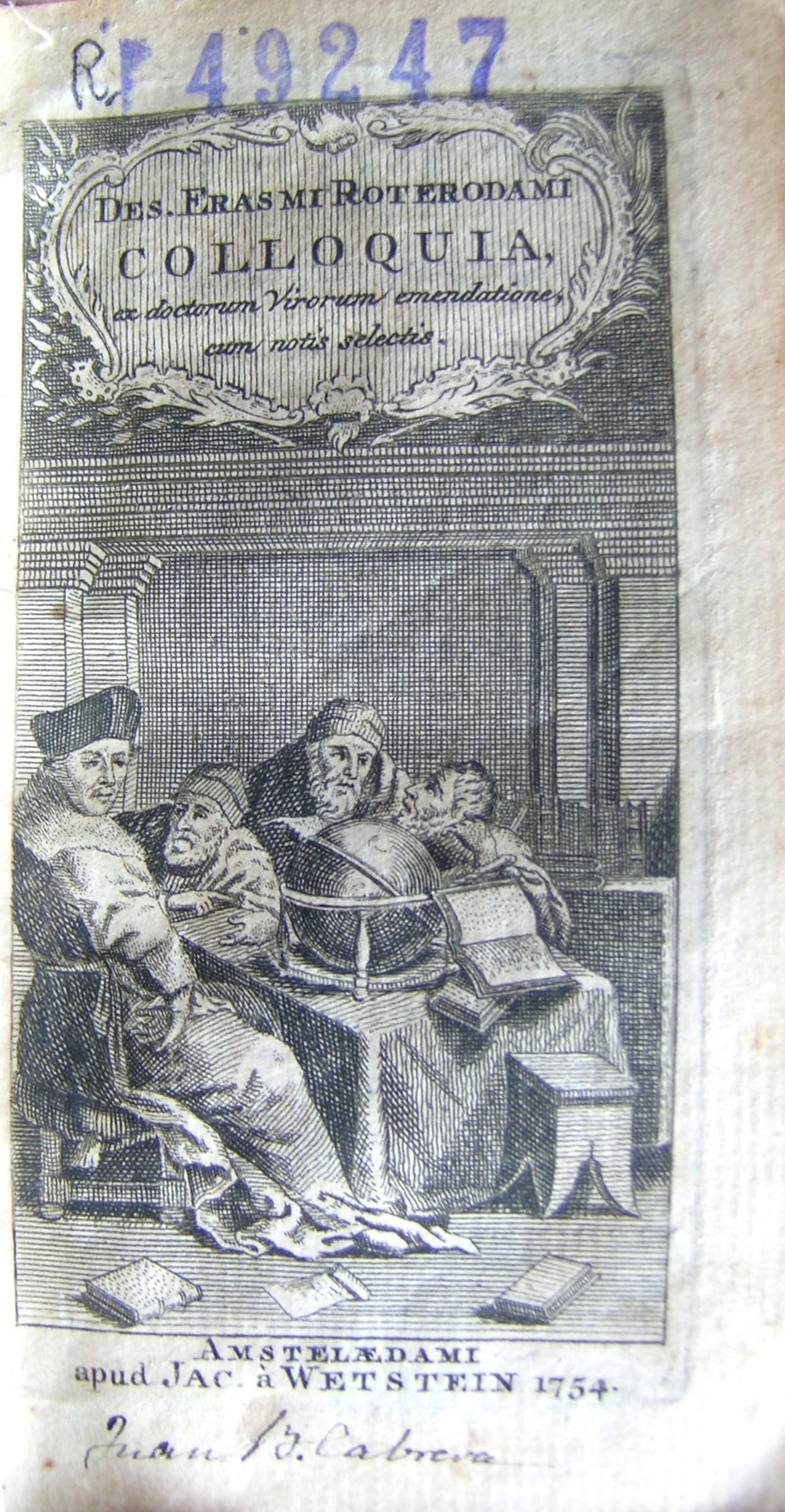 Colloquia, 1754
