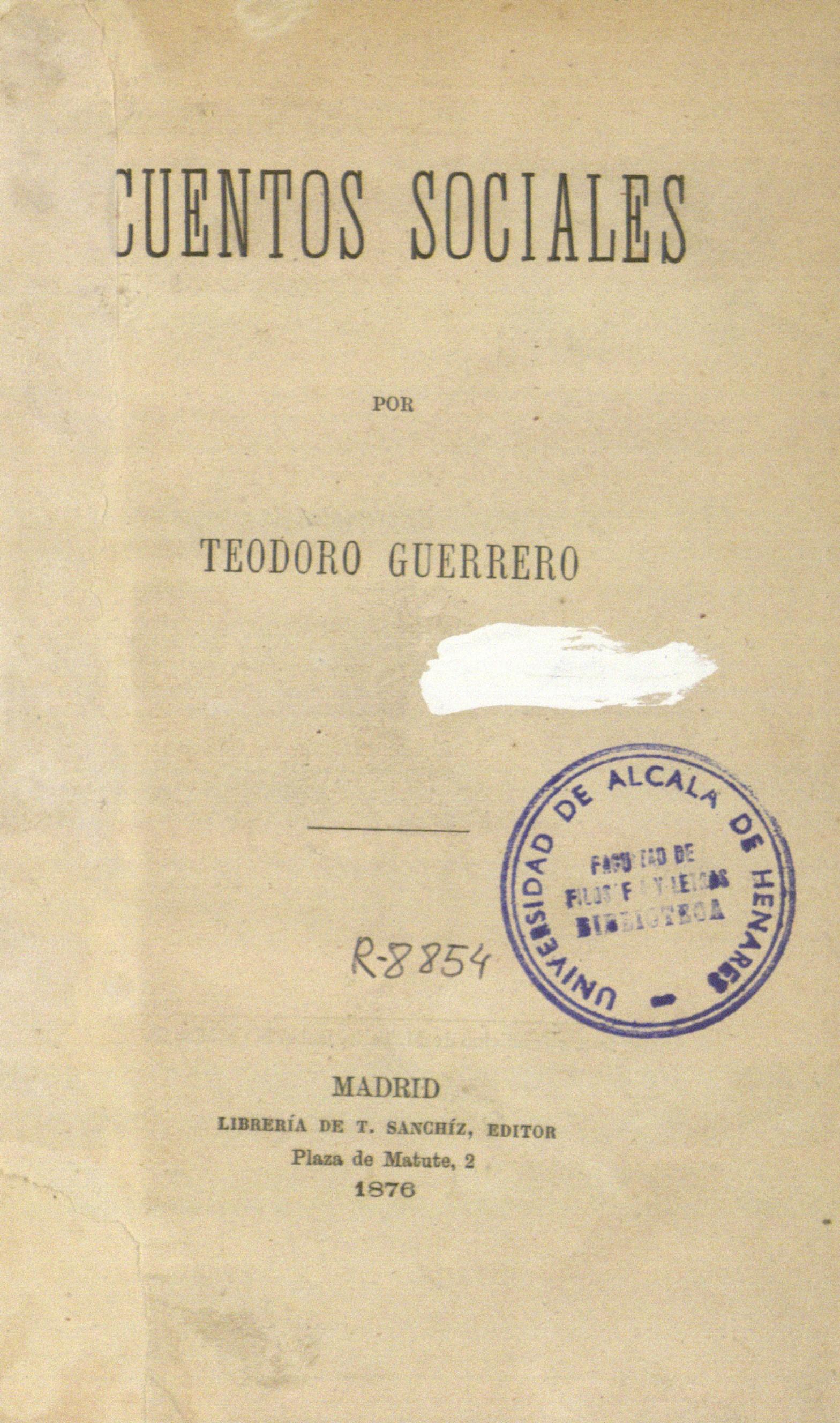 Cuentos sociales, 1876