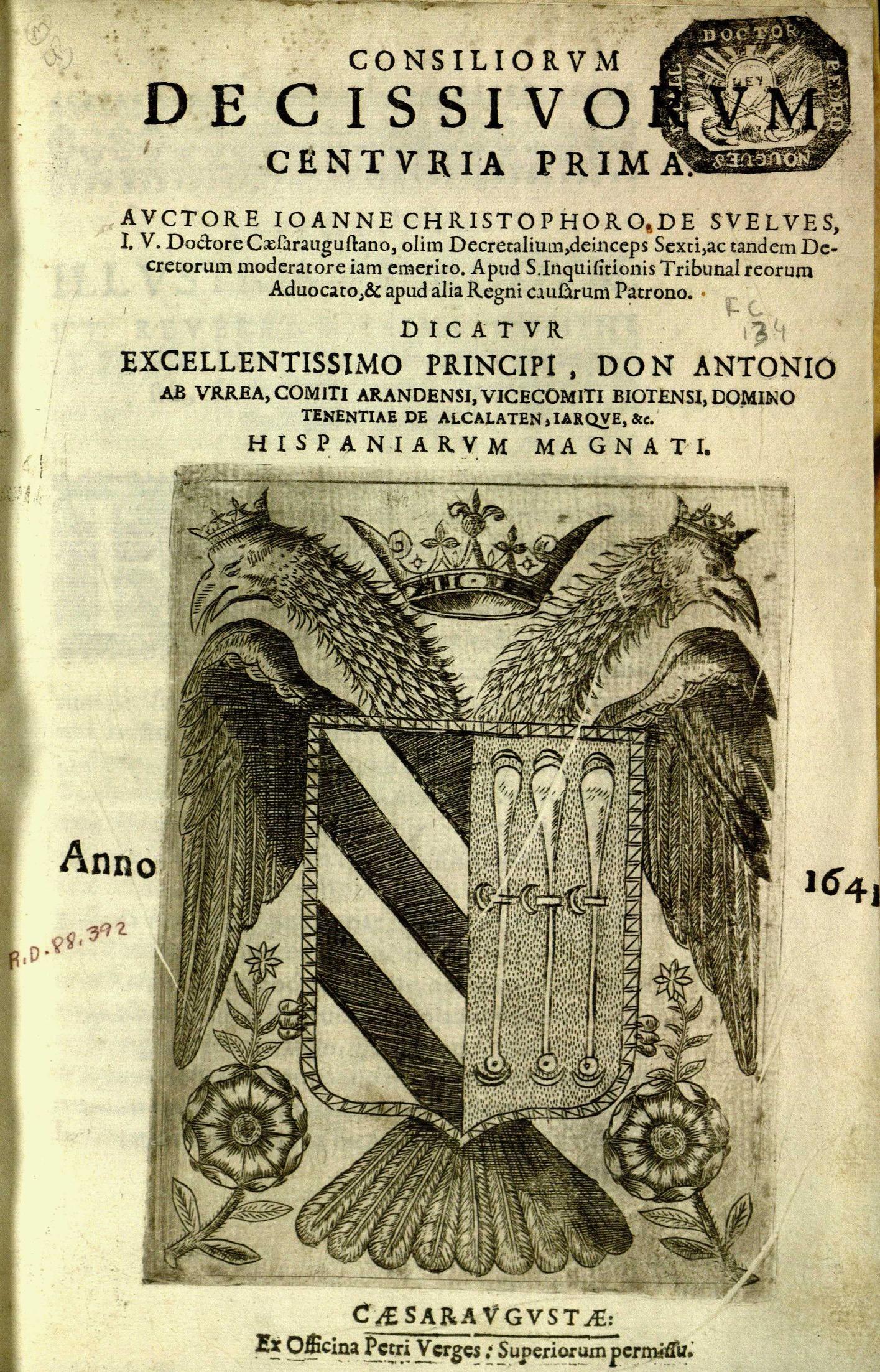 Consiliorum decissivorum, 1641