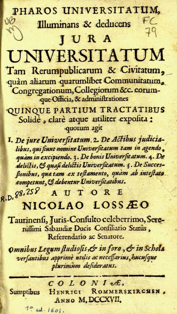 Pharos uniuersitatum illuminans …, 1717