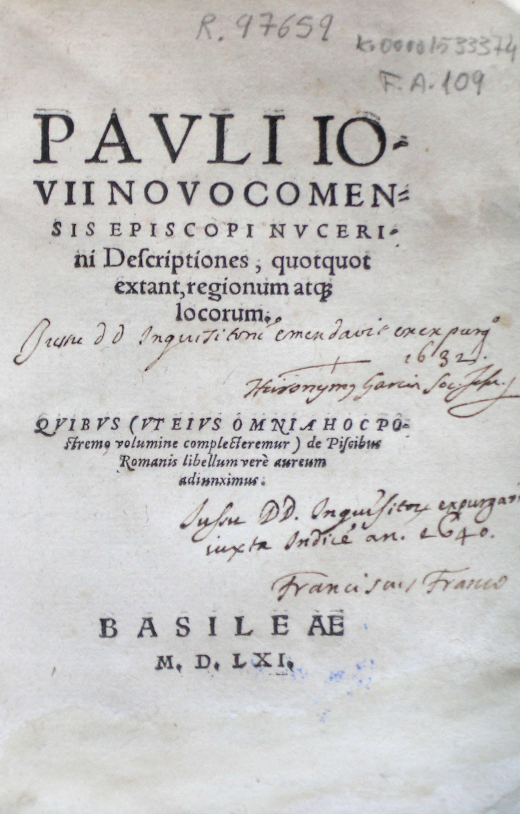 Descriptiones quotquot extant regionum at[que] locorum…, 1561