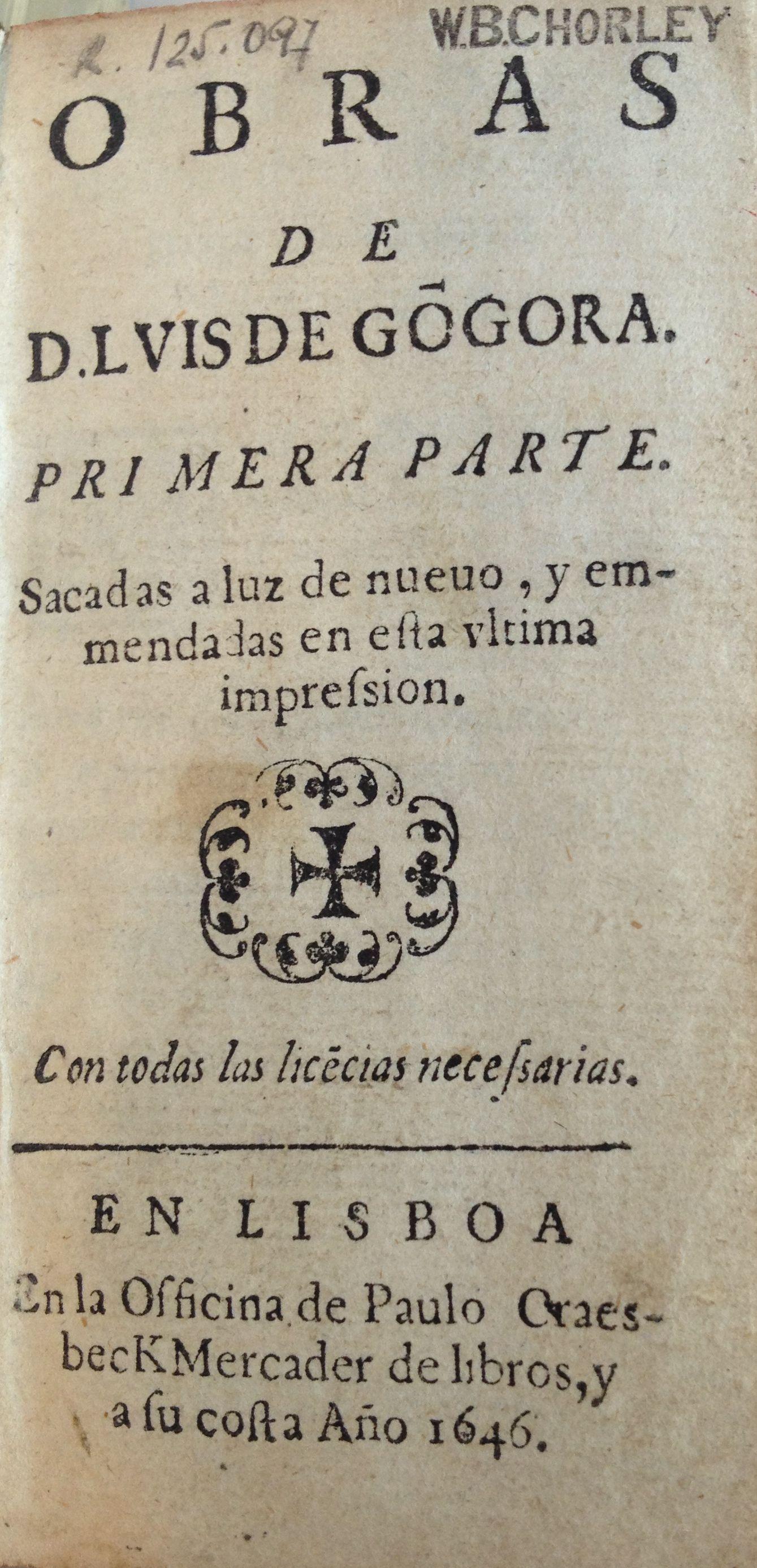 Obras de D. Luis de Gongora, 1646-1647