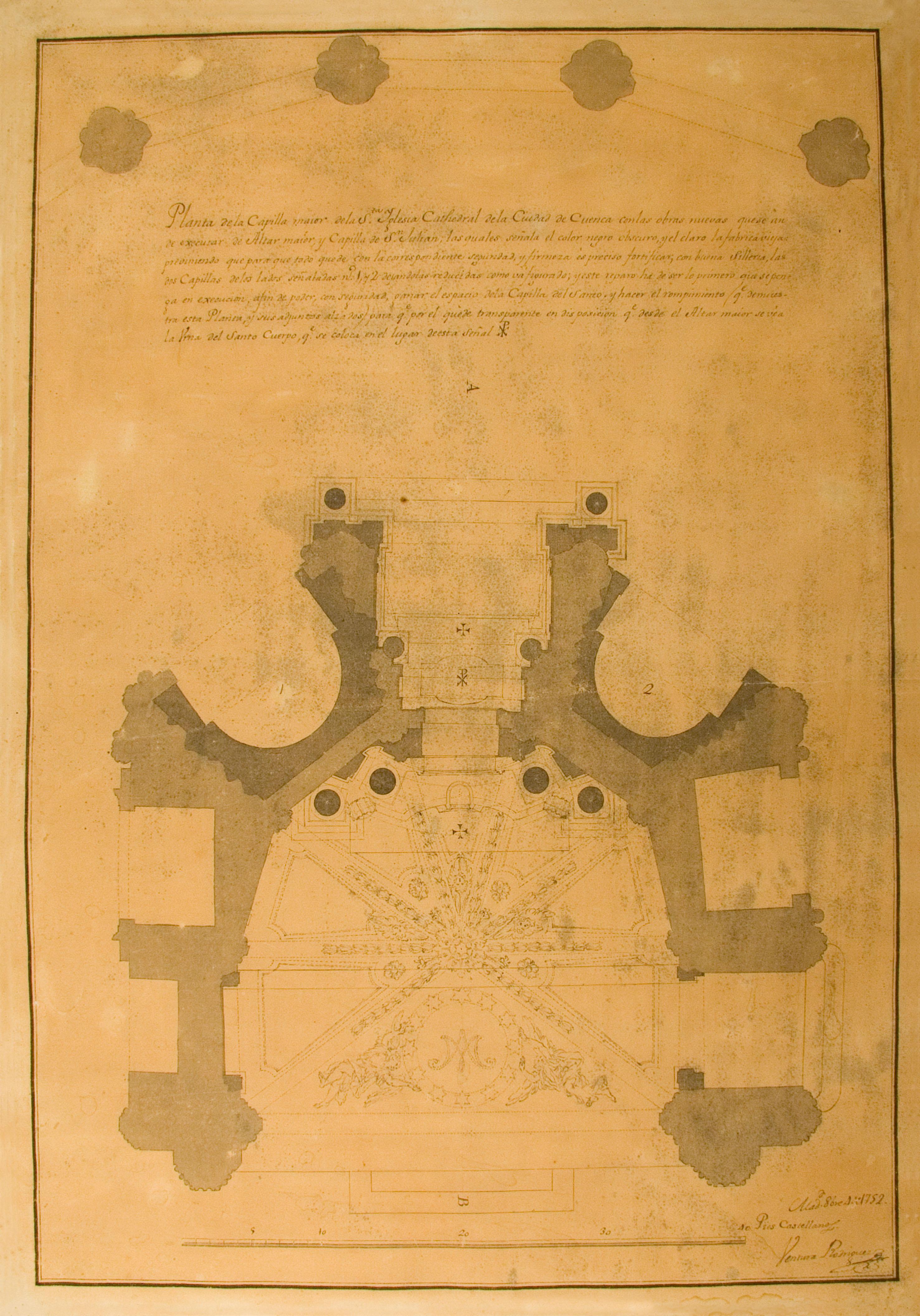 [Proyecto de reforma de la Capilla de San Julian de la Catedral de Cuenca], 1752