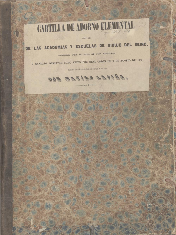 Cartilla de adorno elemental, 1850