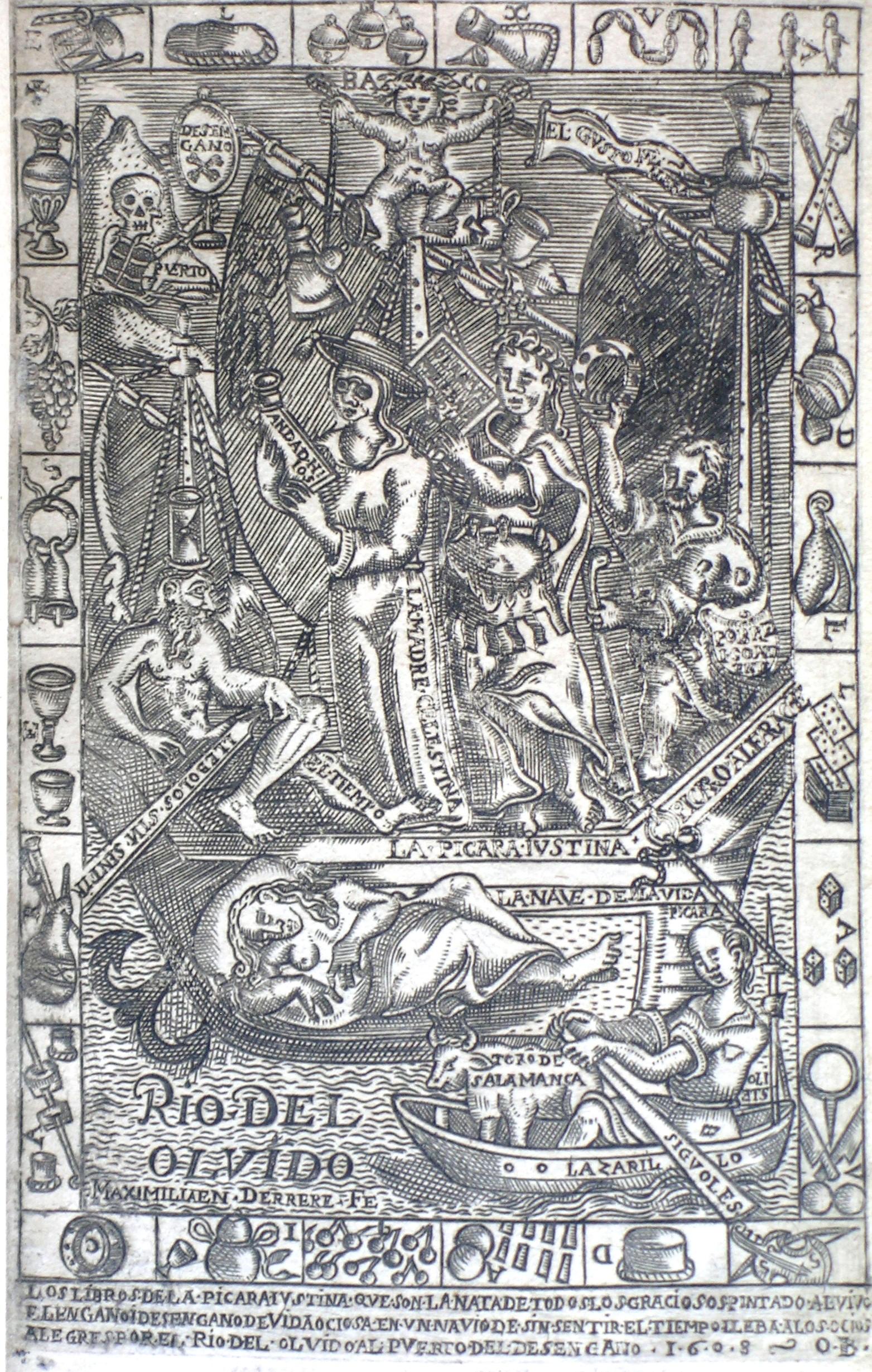 Libro de entretenimiento de la picara Iustina, 1608