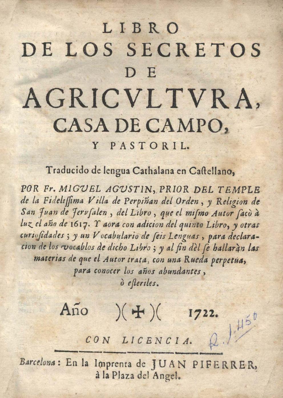 Libro de los secretos,1722