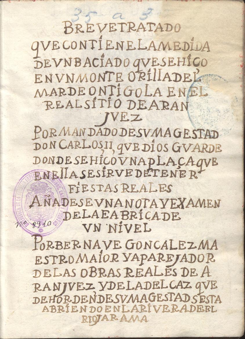 Breve tratado que contiene la medida de un baciado ..., 1665 - 1700?