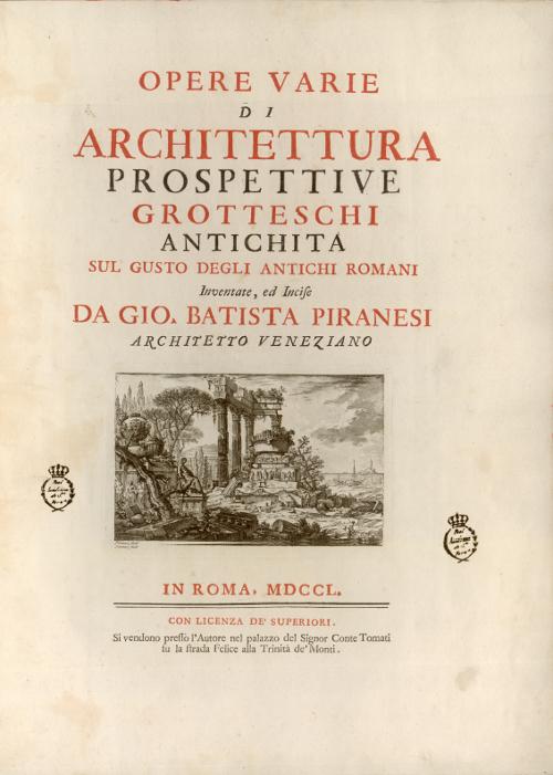 Opere varie di architettura, 1750