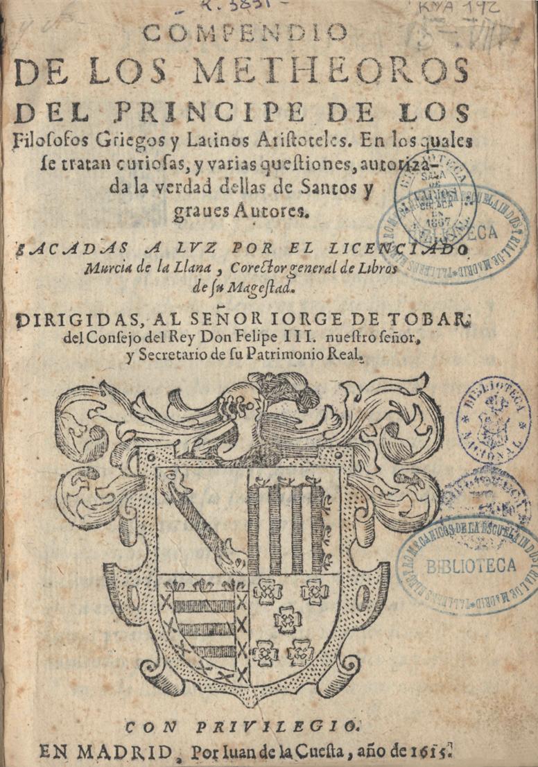 Compendio de los metheoros, 1615