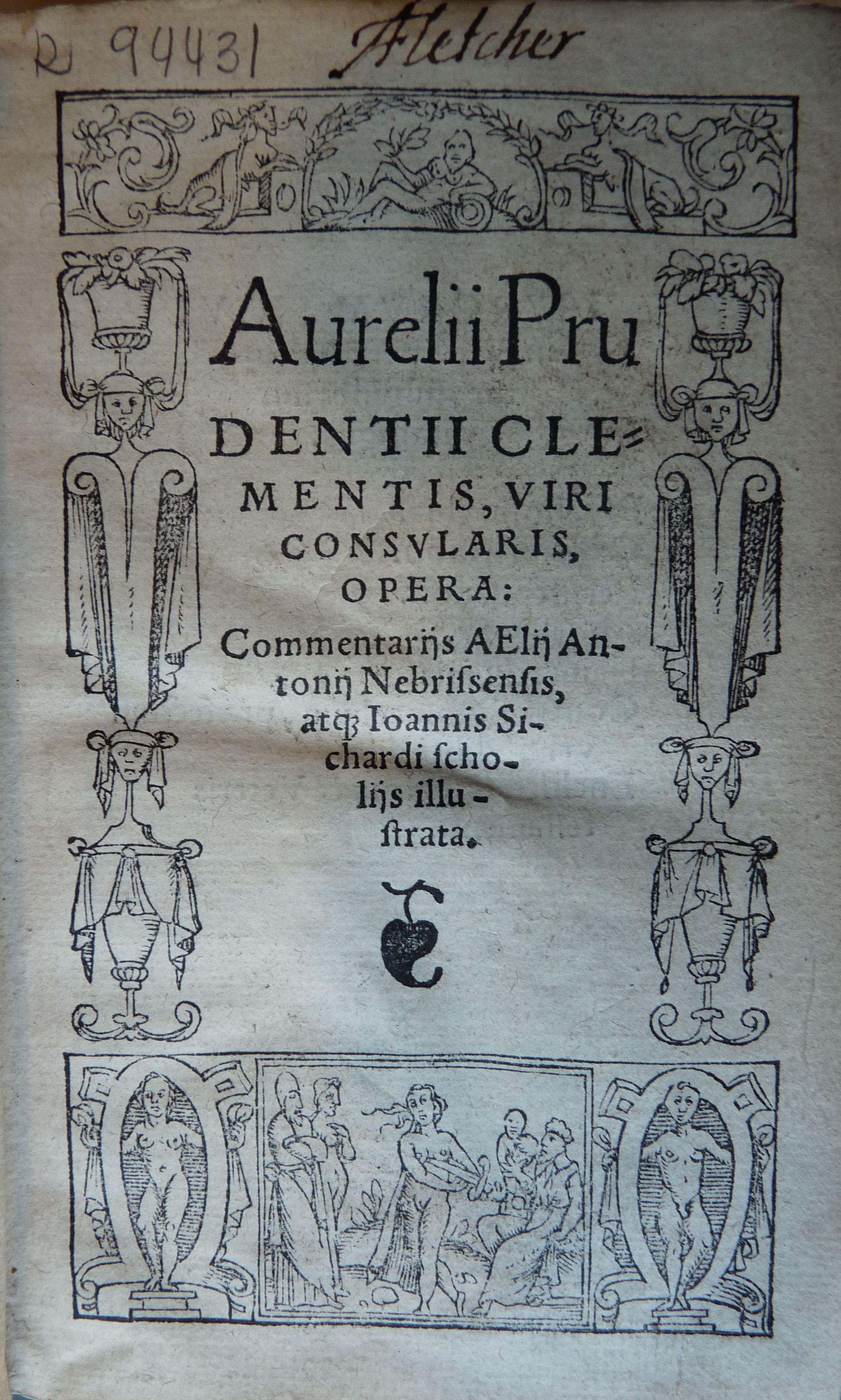 Aurelii Prudentii Clementis ... Opera, 1546