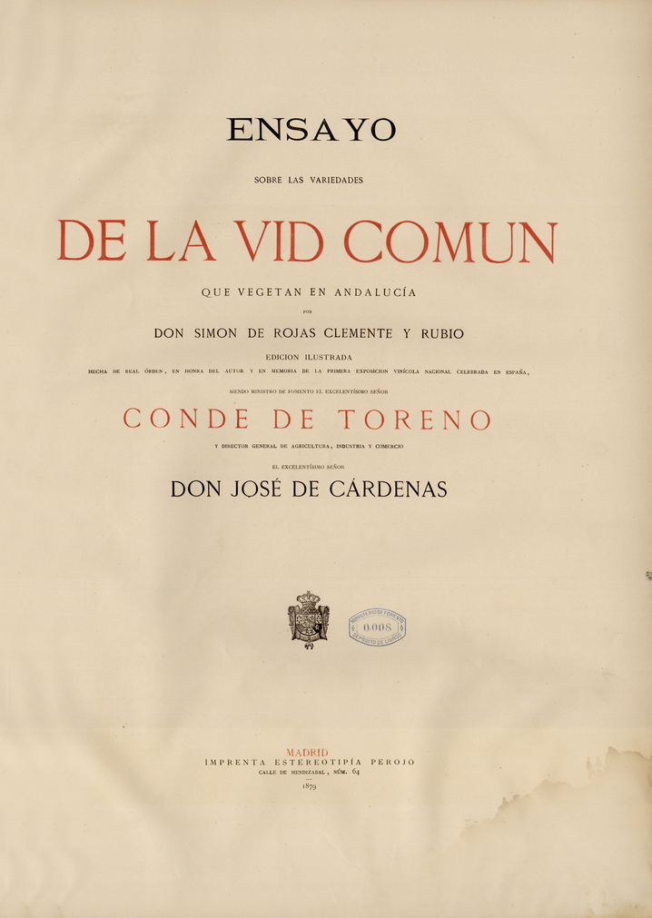 Ensayo sobre las variedades de la vid común …, 1879