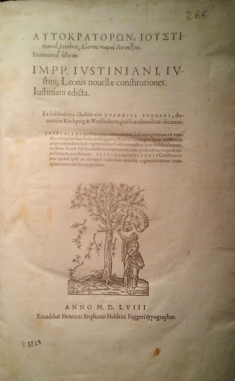 Autokratorōn ... = ... nouellae constitutiones …, 1558