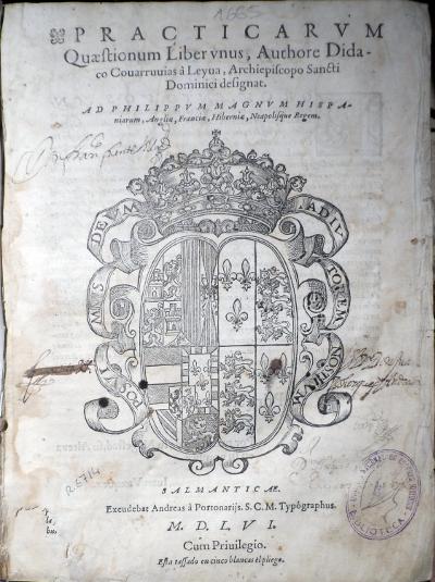 Practicarum quaestionum. Libro primero, 1556