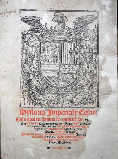 Historia Imperial y Cesarea de Pedro Mejía, 1564